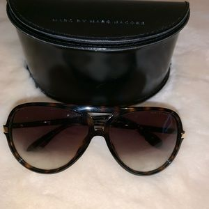 Marc Jacobs Accessories - Marc Jacobs Brown Havana Rounded Sunglasses